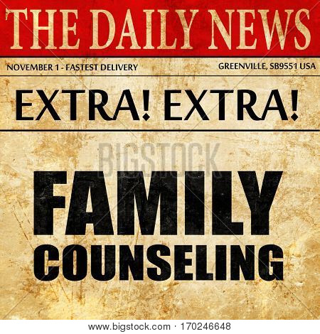 family counseling, newspaper article text