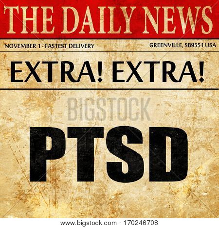 ptsd, newspaper article text
