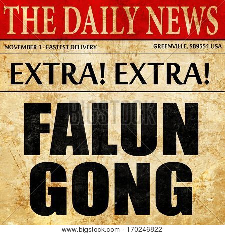 Falun gong, newspaper article text