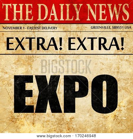 expo, newspaper article text