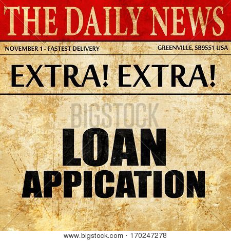 loan application, newspaper article text
