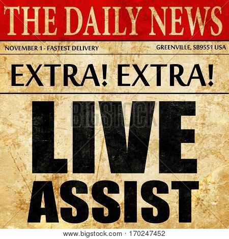live assist, newspaper article text