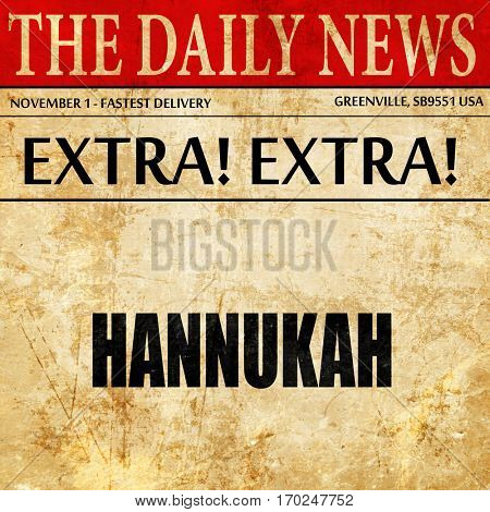 hannukah, newspaper article text