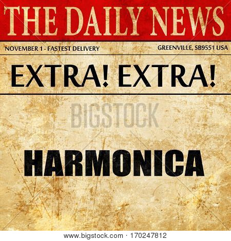 harmonica, newspaper article text