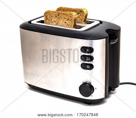 A classic toaster isolated on a white background