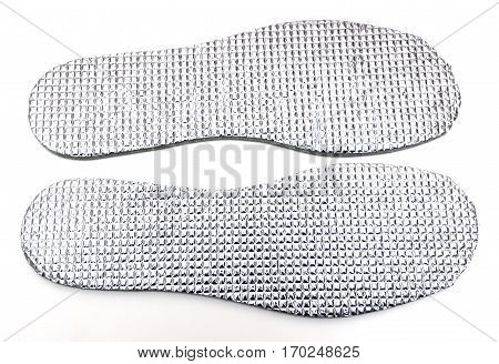 Cotton shoe insoles isolated on white background