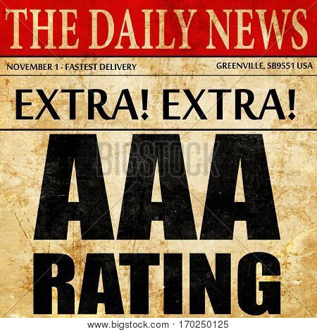 aaa rating, newspaper article text