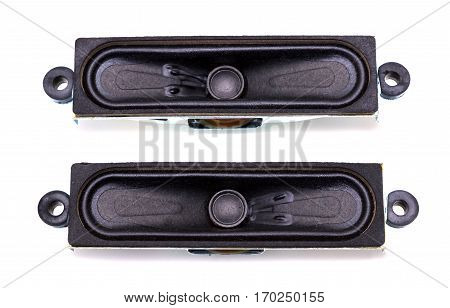 Audio equipment, speaker isolated on white background