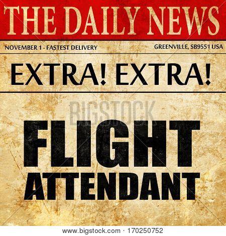 flight attendant, newspaper article text
