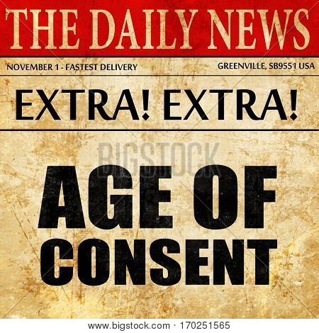 age of consent, newspaper article text