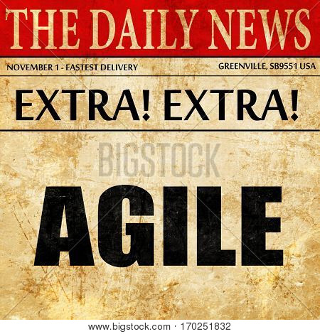 agile, newspaper article text