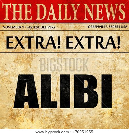 alibi, newspaper article text