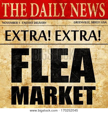 flea market, newspaper article text