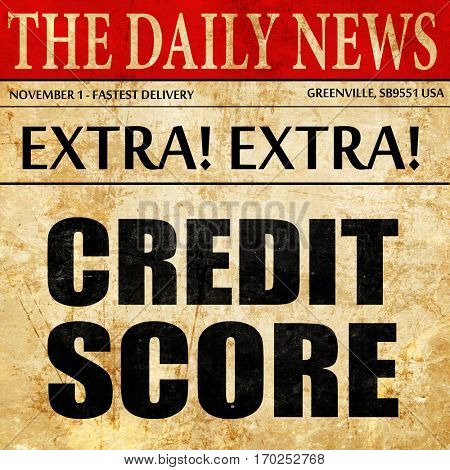 credit score, newspaper article text