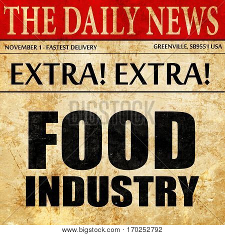 food industry, newspaper article text