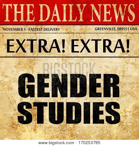 gender studies, newspaper article text