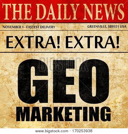 geo marketing, newspaper article text