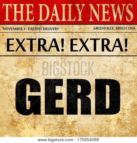 Gerd, newspaper article text