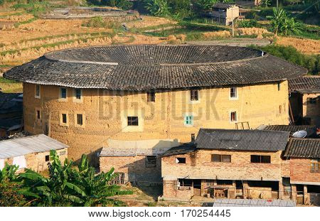 Tulou traditional dwelling of ethnic Hakka in Yongding Fujiang province China
