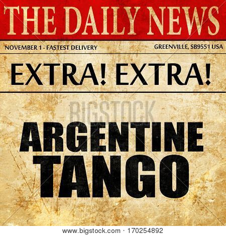 Argentine tango, newspaper article text