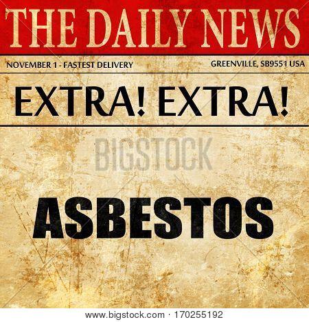 asbestos, newspaper article text