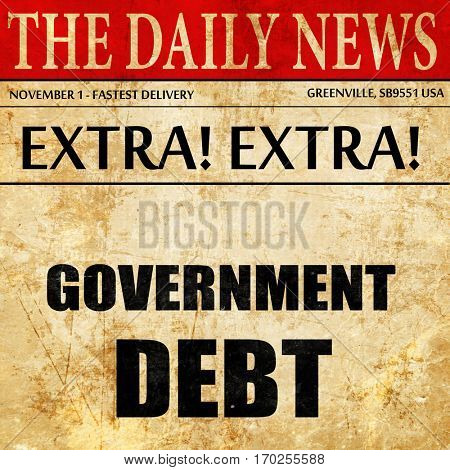 government debt, newspaper article text