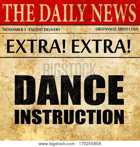 dance instructions, newspaper article text