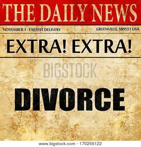 divorce, newspaper article text