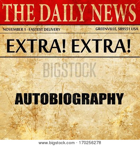 autobiography, newspaper article text