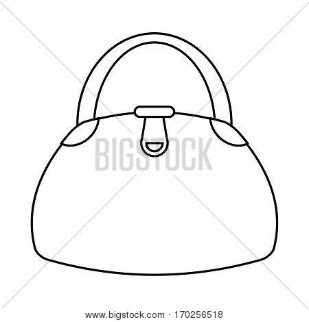 woman handbag fashion style thin line vector illustration eps 10