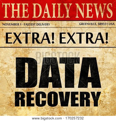 data recovery, newspaper article text