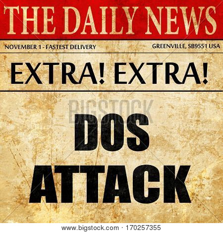 DOS warfare background, newspaper article text