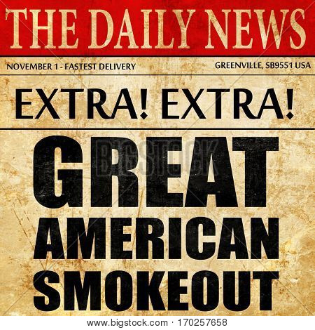 great american smokeout, newspaper article text
