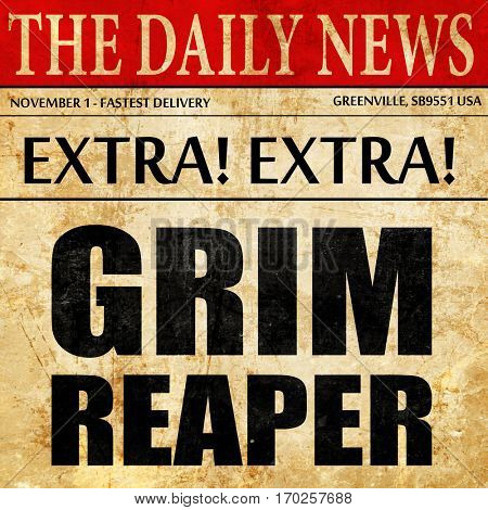 grim reaper, newspaper article text