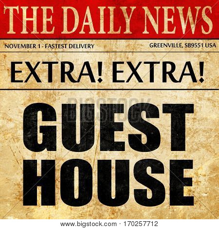 guesthouse, newspaper article text