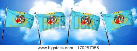 Lazio flag, 3D rendering