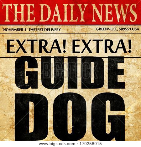 guide dog, newspaper article text