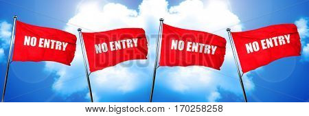 no entry symbol flag, 3D rendering