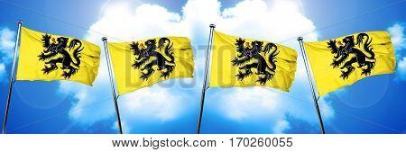 flanders, vlaanderen flag, 3D rendering