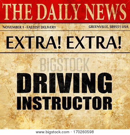 driving instructor, newspaper article text