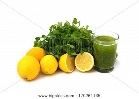 Parsley juice and lemon to burn calories