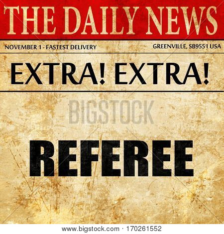 referee, newspaper article text