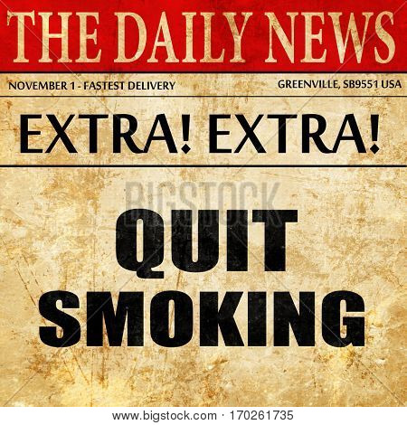 quit smoking, newspaper article text