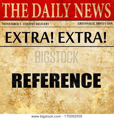 reference, newspaper article text