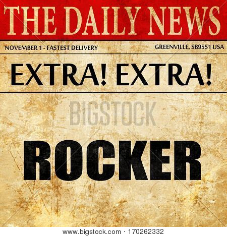 rocker, newspaper article text