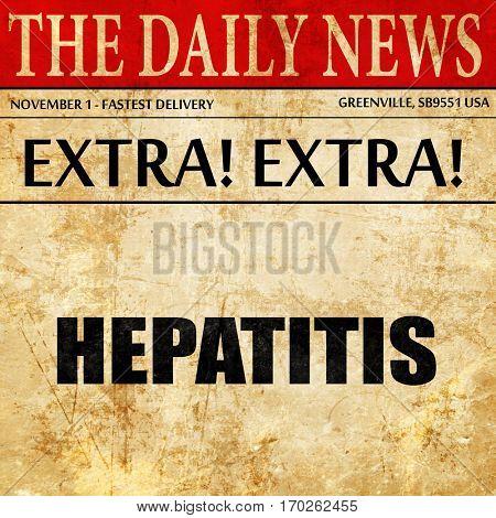 hepatitis, newspaper article text