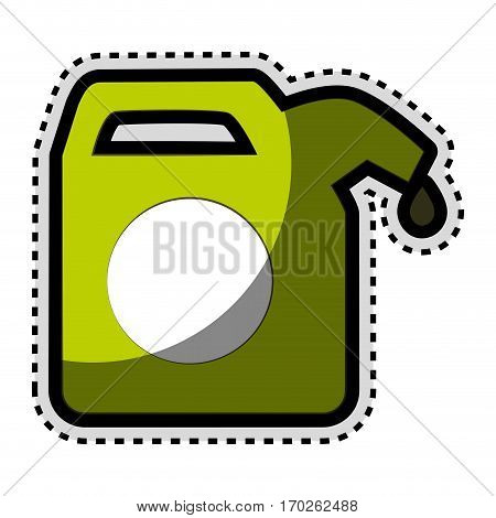 green gallon isolated icon vector illustration design