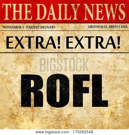 rofl internet slang, newspaper article text