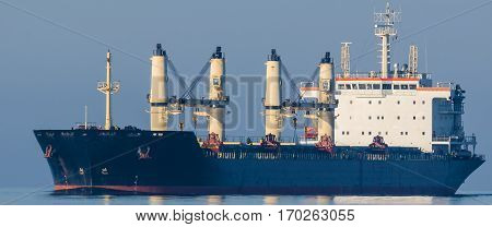 BULK CARRIER - Merchant vessel sailing the calm sea