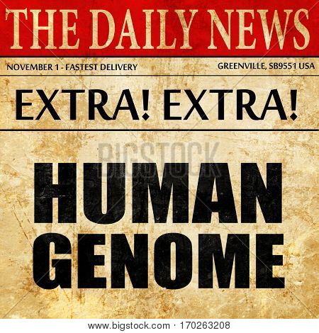 human genome, newspaper article text